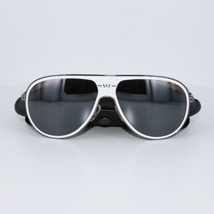 NWT NIB Carrera White Flash Lenses Sunglasses